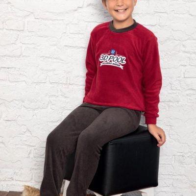 Pijama Baieti Cocolino, 6-14 ani, 100% Mikro, Maro/Rosu, ST6243