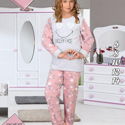 Pijama Cocolino Fete, 6-14 ani, 100% Mikro, Design Stele, ST6239